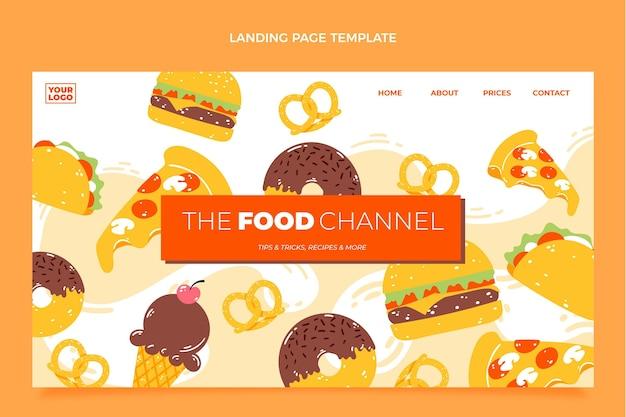 Landingpage für flaches essen