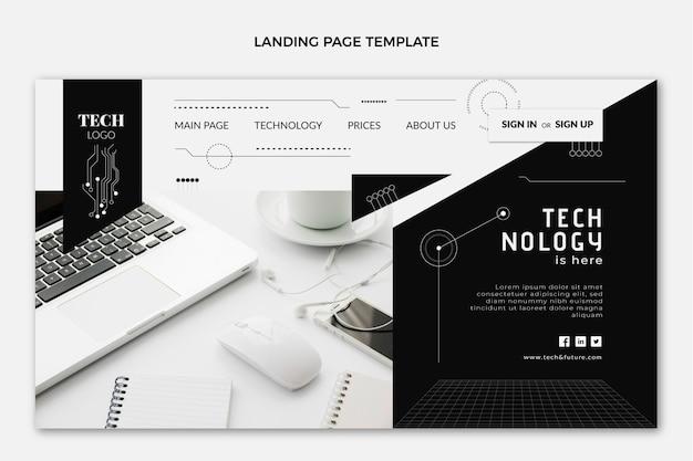 Landingpage für flat-design-technologie
