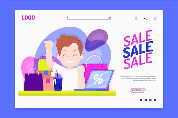 Landingpage für flat sales