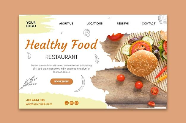 Landingpage für gesundes restaurant