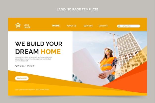 Landingpage für immobilien im flachen design