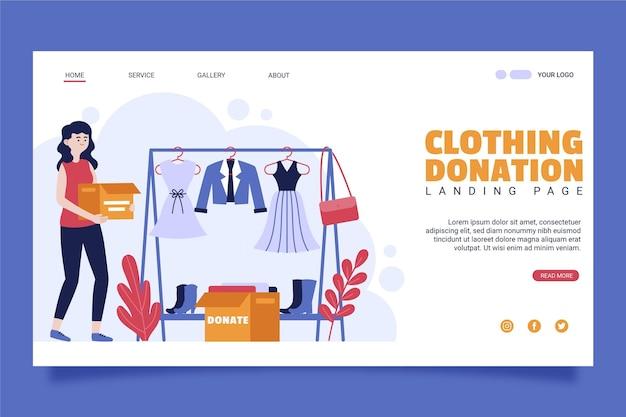 Landingpage für kleiderspenden