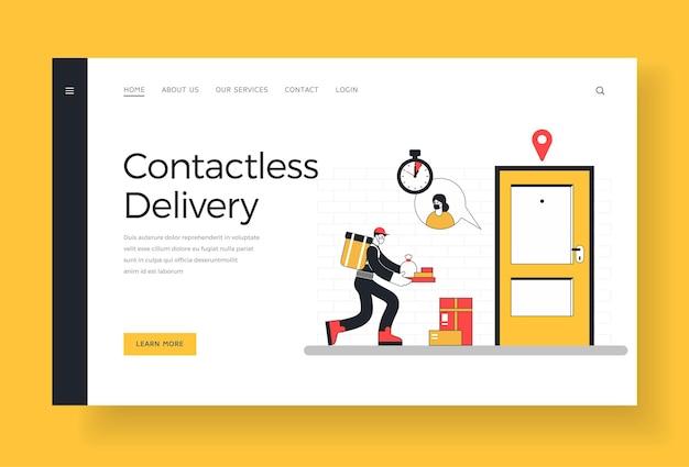 Landingpage für kontaktlose lieferung
