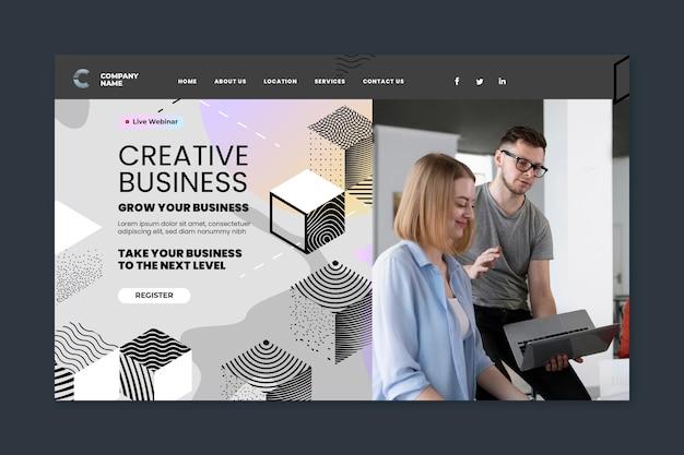 Landingpage für kreative unternehmen