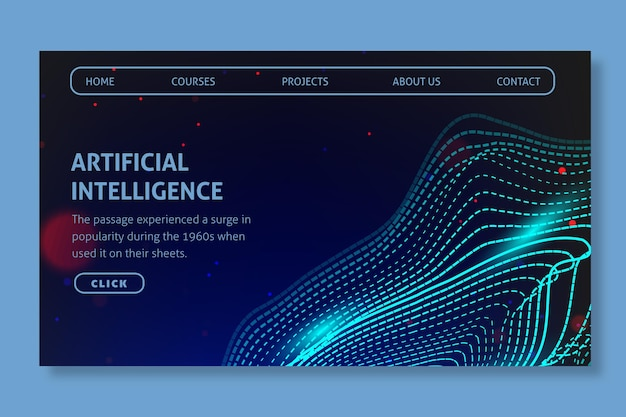 Landingpage für künstliche intelligenz