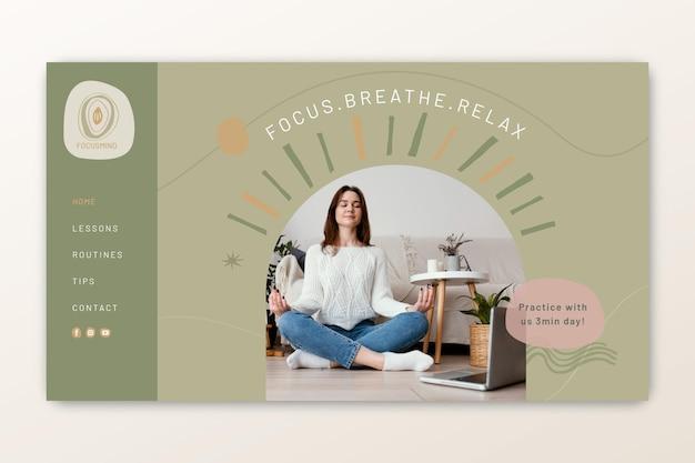 Landingpage für meditation und achtsamkeit