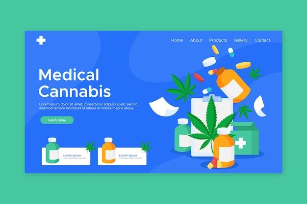 Landingpage für medizinische cannabis-drogen