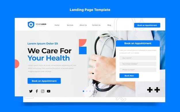 Landingpage für medizinische versorgung im flachen design