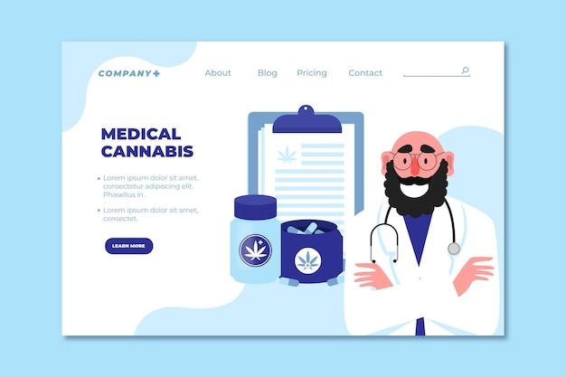 Landingpage für medizinisches cannabis und ärzte