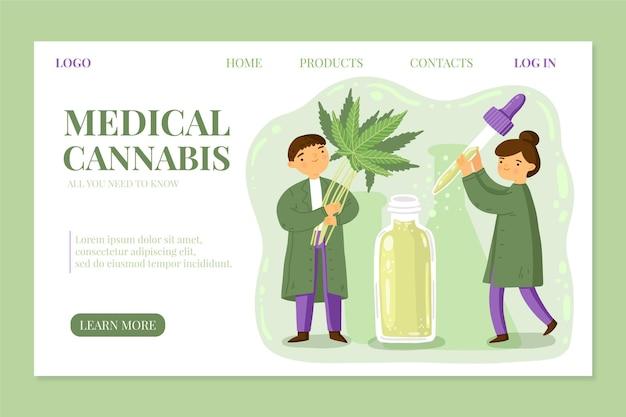 Landingpage für medizinisches cannabis