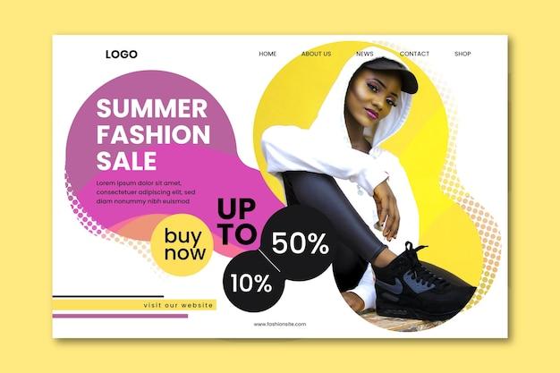 Landingpage für modeverkauf
