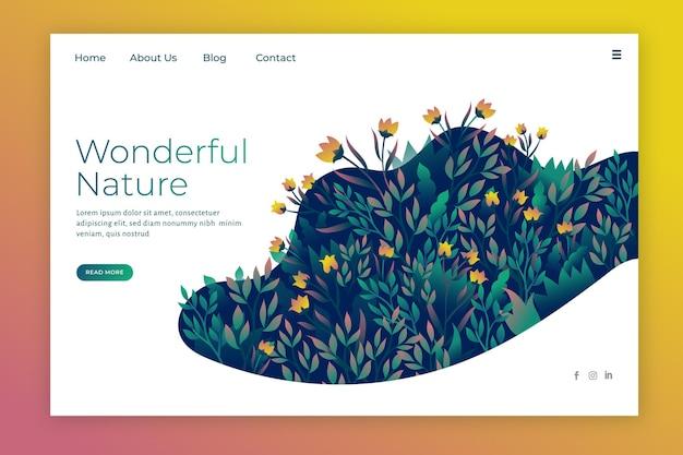 Landingpage für naturdesign