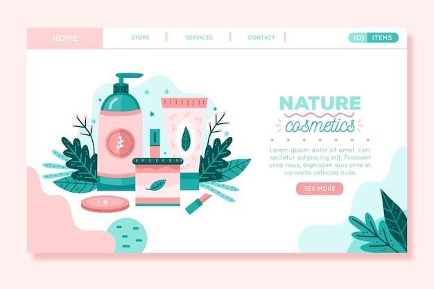 Landingpage für naturkosmetik