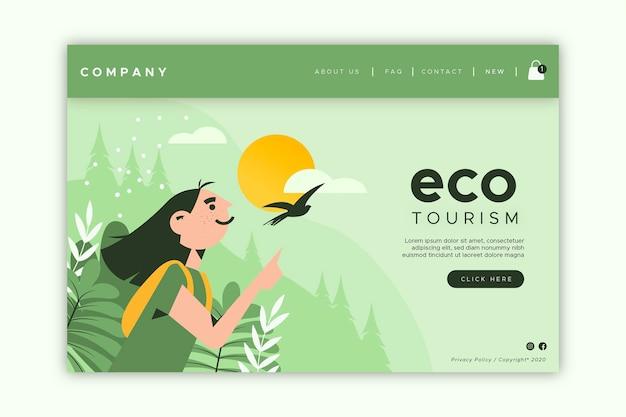 Landingpage für ökotourismus