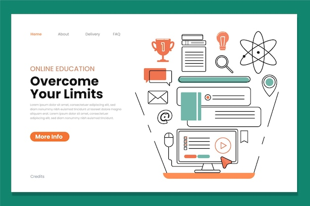 Landingpage für online-bildung und schule