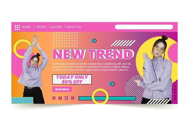 Landingpage für online-shopping
