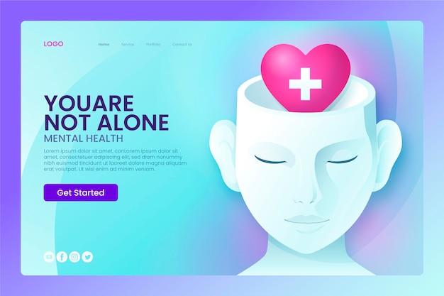 Landingpage für psychische gesundheit mit gradienten