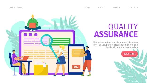 Landingpage für qualitätssicherung und programmierentwicklung