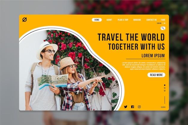 Landingpage für reisen