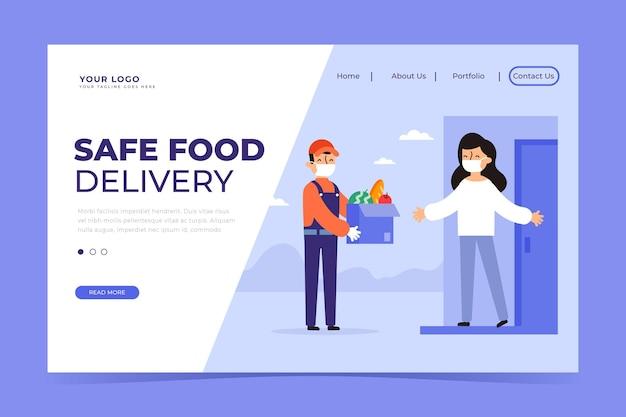Landingpage für sichere lebensmittellieferung