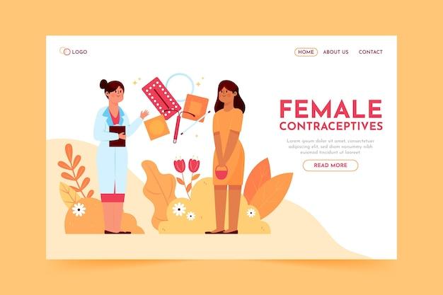 Landingpage für weibliche verhütungsmittel