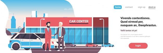 Landingpage-konzept mit autohaus