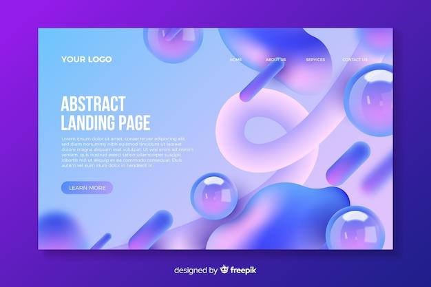 Landingpage mit abstrakten formen