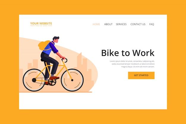 Landingpage mit dem fahrrad zur arbeit