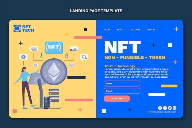 Landingpage mit minimaler technologie