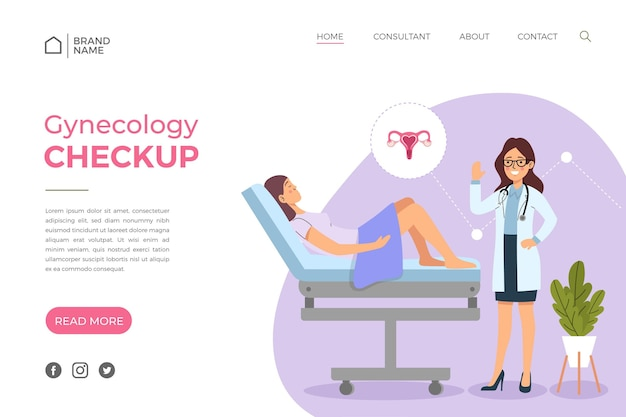 Landingpage-stil für gynäkologie-checkups