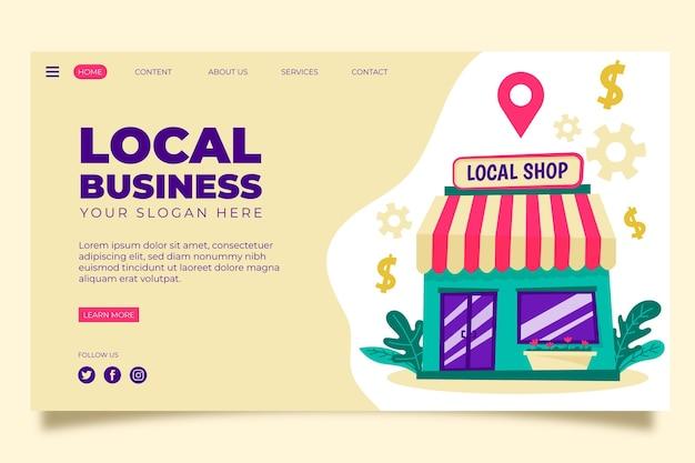 Landingpage-thema für lokale unternehmen