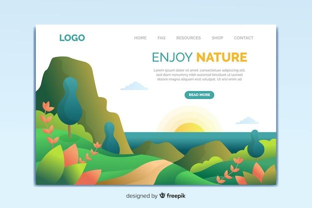 Landingpage-vorlage der natur