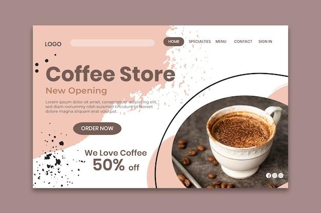 Landingpage-vorlage für coffeeshops