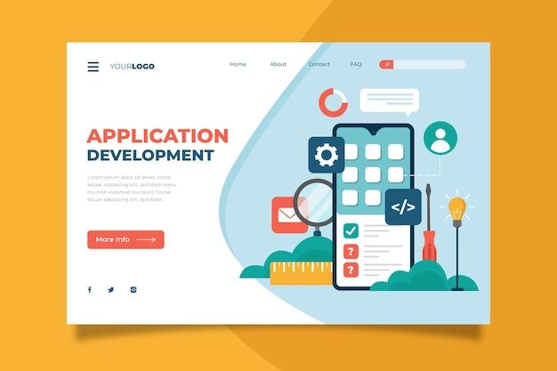 Landingpage-vorlage für die app-entwicklung