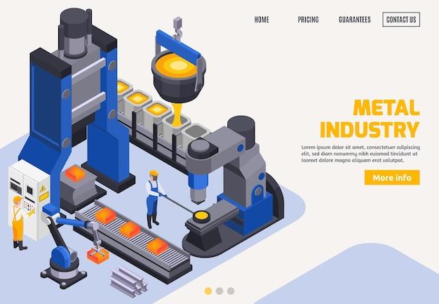 Landingpage-vorlage für die metallindustrie