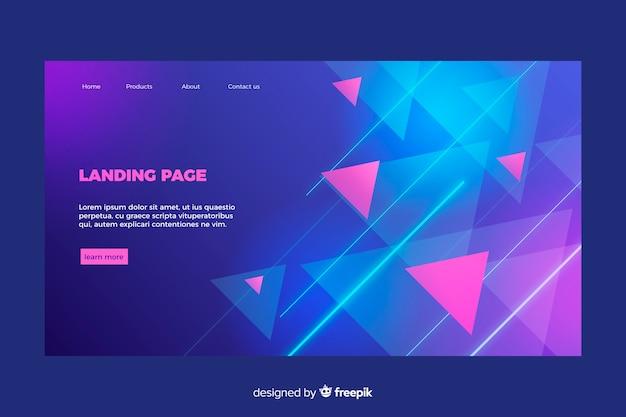 Landingpage-vorlage für geometrische formen