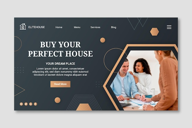 Landingpage-vorlage für immobilien