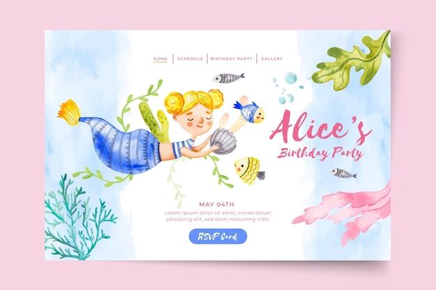 Landingpage-vorlage für kindergeburtstag