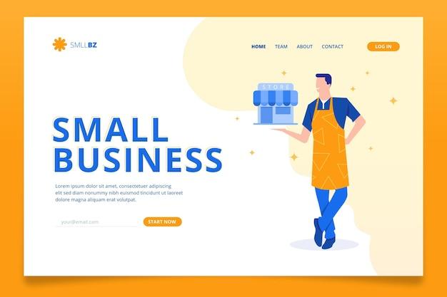 Landingpage-vorlage für kleine unternehmen