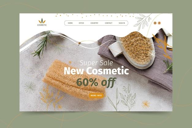 Landingpage-vorlage für kosmetische produkte