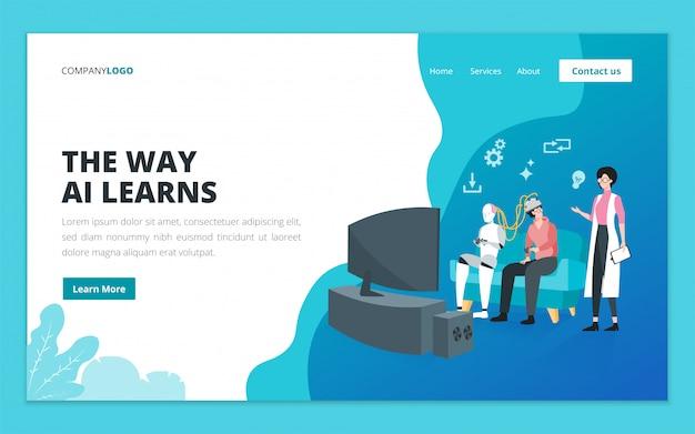 Landingpage-vorlage für künstliche intelligenz (ki)