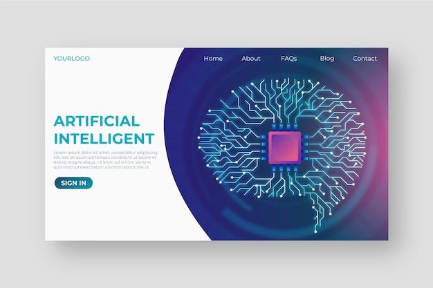 Landingpage-vorlage für künstliche intelligenz