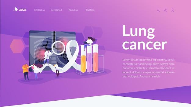 Landingpage-vorlage für lungenkrebs