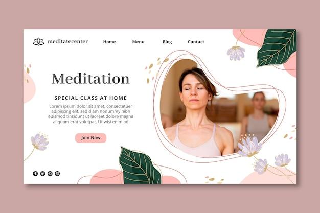 Landingpage-vorlage für meditation und achtsamkeit