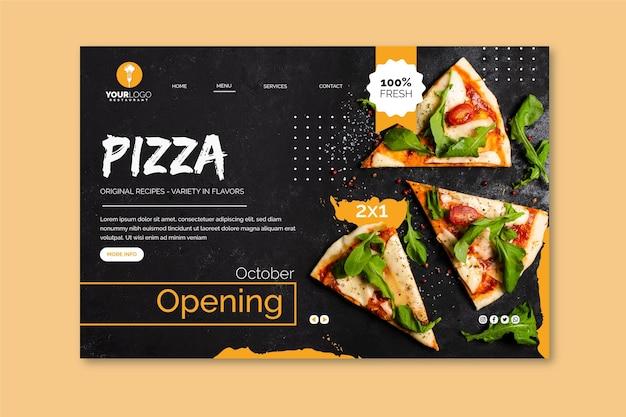 Landingpage-vorlage für pizzarestaurant