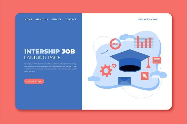 Landingpage-vorlage für praktikumsjobs