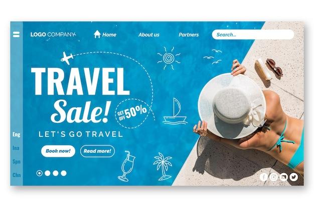 Landingpage-vorlage für reiseverkauf