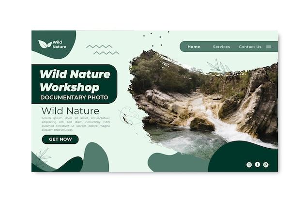 Landingpage-vorlage für wilde natur