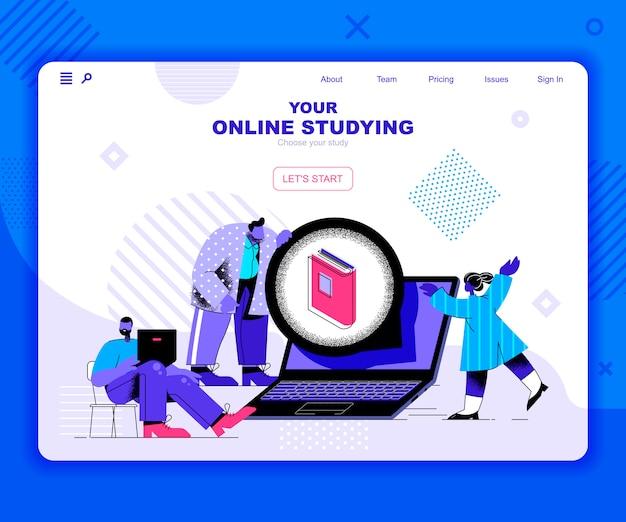 Landingpage-vorlage online studieren