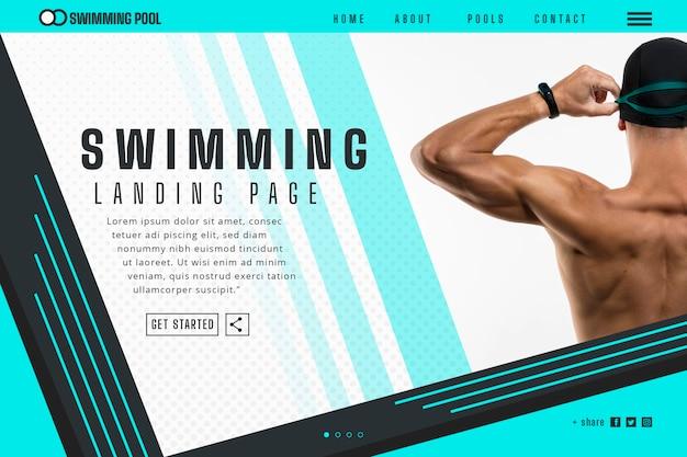 Landingpage-vorlage schwimmen